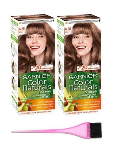 Garnier Garnier 2 Adet Color Naturals Saç Boyası 6.25 + Boya Fırçası Renksiz